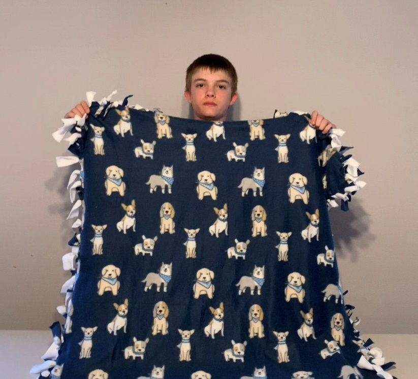 Cheer Box from EveryStep Inspires Teen to Make Blankets